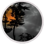 Sun Over Spring Ridge Round Beach Towel