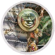 Sun Power Puerto Vallarta  Round Beach Towel