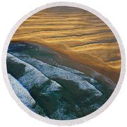Sun Rise Coast  Round Beach Towel
