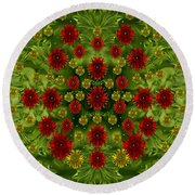 Sun Roses In The Deep Dark Forest With Fantasy And Flair Round Beach Towel