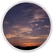 Sun Sets For The Day Round Beach Towel