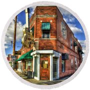 Sun Studio Rock N Roll Birthing Place Memphis Tennessee Art Round Beach Towel