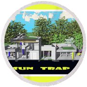 Sun Trap Section Round Beach Towel