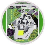 Sun Trap Section Perspective Round Beach Towel