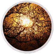 Sun Tree Round Beach Towel