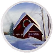 Sun Valley 3 Round Beach Towel