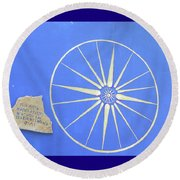 Sun Wheel Round Beach Towel