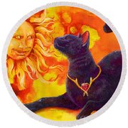 Sun Worshiper Round Beach Towel