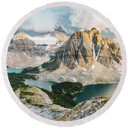 Sunburst Peak Round Beach Towel