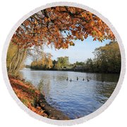Sunbury On Thames Surrey Uk Round Beach Towel