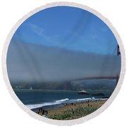 Sunday Afternoon At Golden Gate Bridge Beach Round Beach Towel