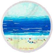 Sunday At Bondi Round Beach Towel by Chris Armytage
