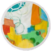 Sunday Day Bubbles Round Beach Towel