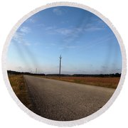 Sunday Drive Series Round Beach Towel