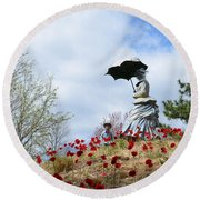 Sunday In The Park Round Beach Towel