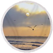 Sunday Morning Coming Down Round Beach Towel