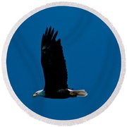 Sunday Morning Flight Round Beach Towel