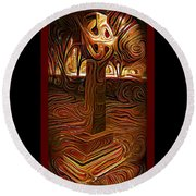 Sunday Mourning Round Beach Towel