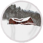Sunday River Round Beach Towel