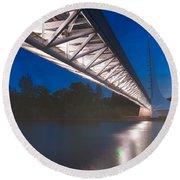 Sundial Bridge 4 Round Beach Towel