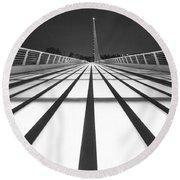 Sundial Bridge 9 Round Beach Towel