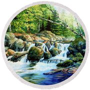 Sunfish Creek Round Beach Towel