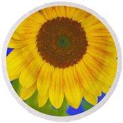 Sunflower Art Round Beach Towel