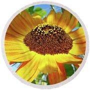Sunflower Art Prints Sun Flowers Gilcee Prints Baslee Troutman Round Beach Towel