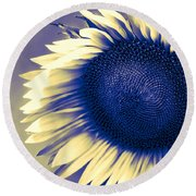 Sunflower Sunrise Round Beach Towel