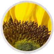 Sunflower Detail Round Beach Towel