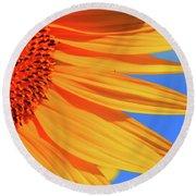 Sunflower Elegance Round Beach Towel