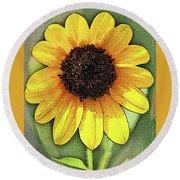 Sunflower Expressed Round Beach Towel