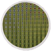 Sunflower Field Abstract Round Beach Towel