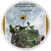 Sunflower Inspiration Round Beach Towel
