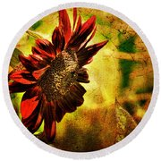 Sunflower Round Beach Towel by Lois Bryan