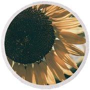 Sunflower Matte Round Beach Towel