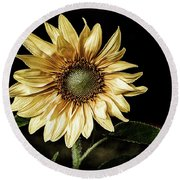Sunflower Modified Round Beach Towel