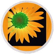 Sunflower Mosaic 1 Round Beach Towel