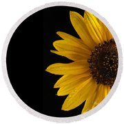 Sunflower Number 3 Round Beach Towel