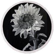 Sunflower Sutra Round Beach Towel