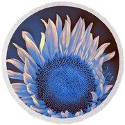 Sunflower Moonlight Round Beach Towel