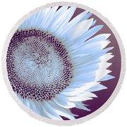 Sunflower Starlight Round Beach Towel