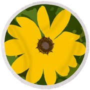 Sunflower Work Number 3 Round Beach Towel