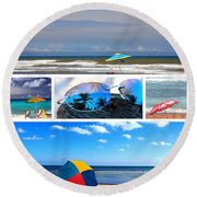 Sunglasses Needed In Paradise Round Beach Towel