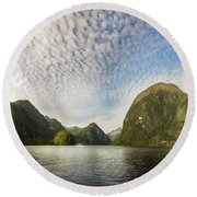 Sunglow In Middle Earth Fantasy-land Round Beach Towel