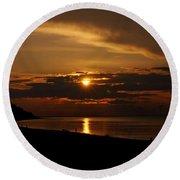 Sunken Sunset Round Beach Towel