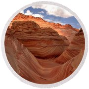 Sunkiss At Coyote Buttes Round Beach Towel