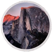 Sunkiss On Half Dome Round Beach Towel