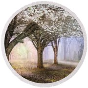 Sunlight In The Meadow Round Beach Towel