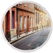 Sunlight In Toulouse Round Beach Towel